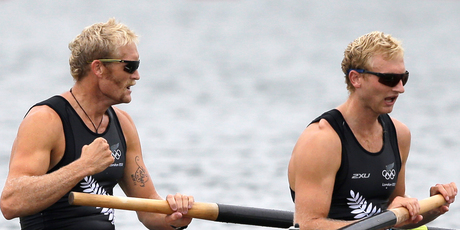 Hamish Bond and Eric Murray have earned New Zealand its second Olympic gold medal. Photo / Chris Carlson.