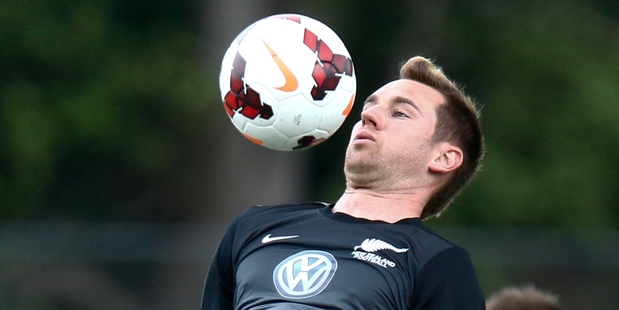 Shane Smeltz was upbeat about what lies ahead when he spoke after training yesterday. Photo / Mark Mitchell