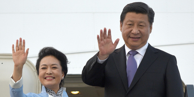 President Xi Jinping and First Lady Peng Liyuan will arrive today after attending the G20  summit. Photo / Getty Images
