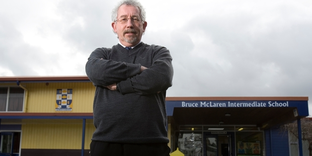 Roy Lilley, principal of Bruce McLaren Intermediate School in Henderson, says the effect of the new partnership school will be huge on local schools. Photo / Paul Estcourt