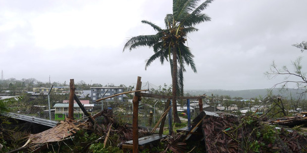 Destroyed homes in Port Vila Vanuatu after tropical cyclone Pam. Photo / World Vision