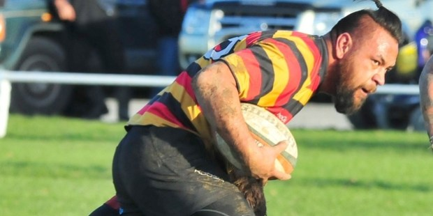 TOUGH GUY: Johnny Avatea made a huge impression for Greytown when he came off the bench. PHOTO/CHRIS KILFORD