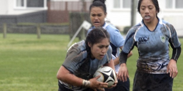 WINNERS: The Northland girls (blue) dominated the rugby sevens at the New Zealand Area Schools Tournament in Wanganui. PHOTO/BEVAN CONLEY 070715WCBRCINT03