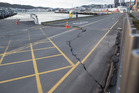 Damage caused by Monday's 7.8 earthquake at CentrePort in Wellington. Photo / Mark Mitchell