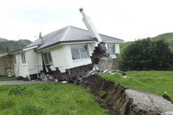 At Bluff Station a house sitting on the Kekerengu Fault is spectacularly moved off its foundations during Monday's magnitude 7.8 earthquake. Photo / Supplied
