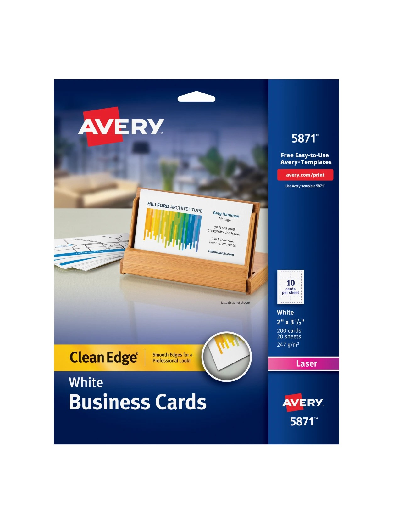 Office Depot Same Day Business Cards : office, depot, business, cards, Avery, Clean, Business, Cards, Office, Depot