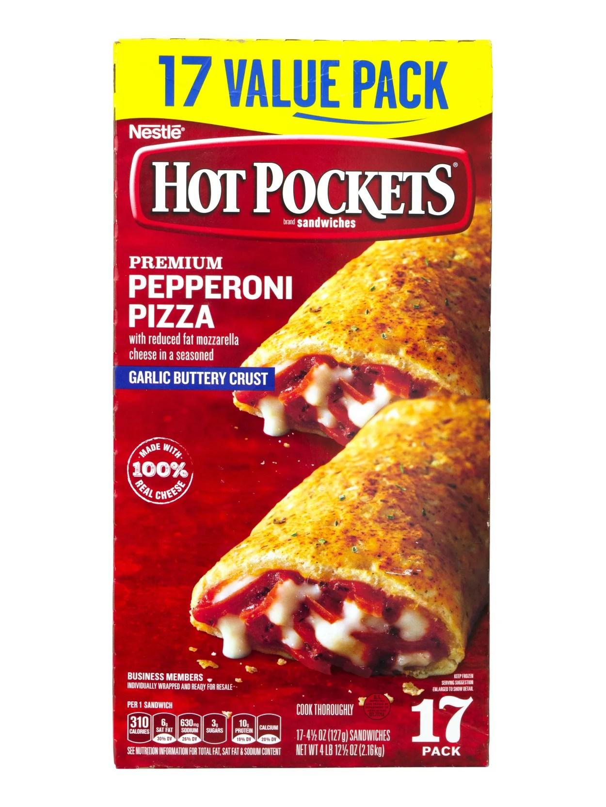 Hot Pockets Nutrition Information : pockets, nutrition, information, Pockets, Pepperoni, Pizza, Office, Depot