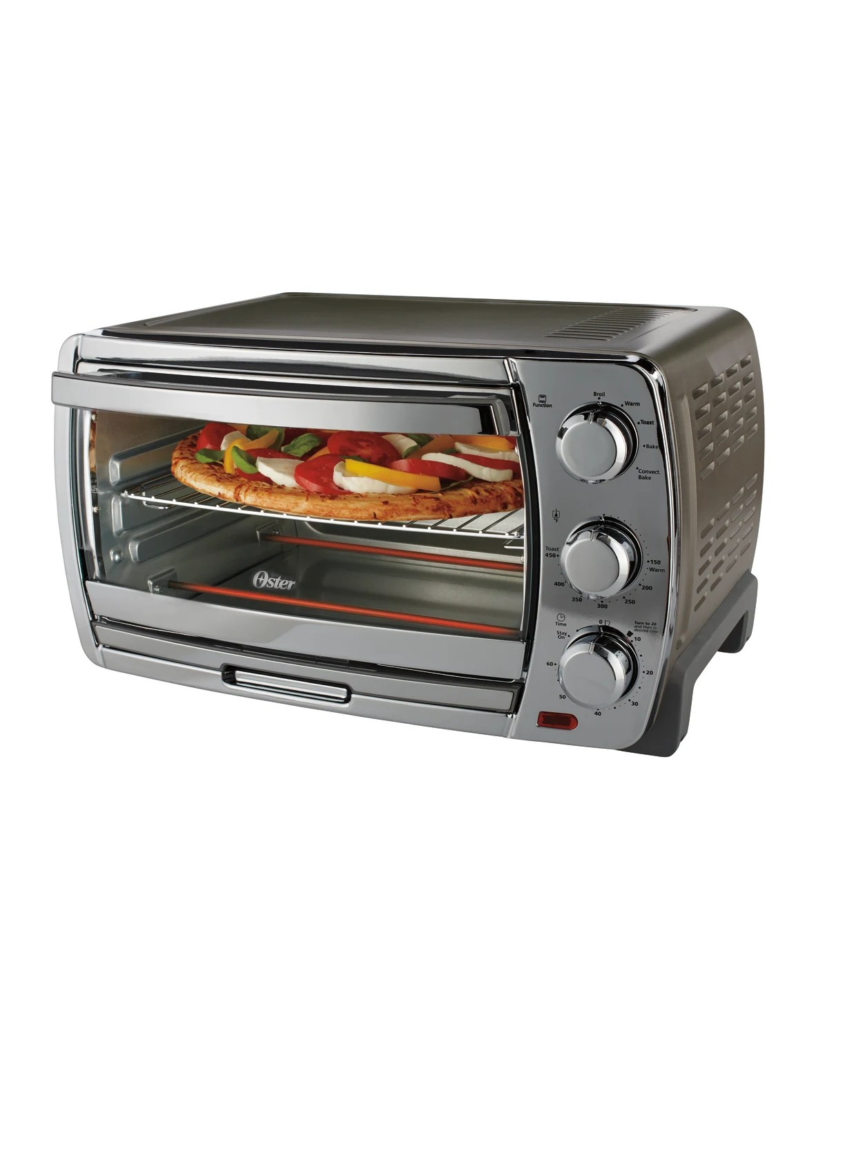 Oster Countertop Convection Toaster Oven Silver Office Depot