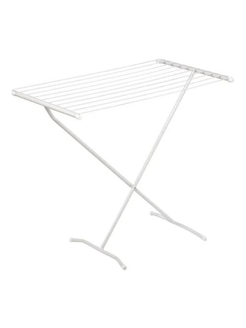 honey can do steel folding drying rack 32 1 4 h x 21 w x 35 1 2 d white item 102528