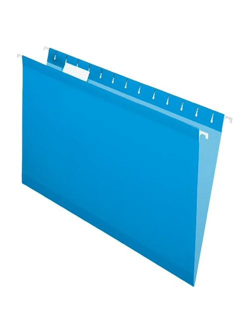 office depot brand hanging folders 15 3 4 x 9 3 8 legal size blue box of 25 item 1394875