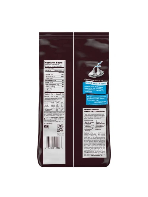 Hershey Kiss Nutrition Facts Label : hershey, nutrition, facts, label, Hersheys, Kisses, Chocolate, Office, Depot