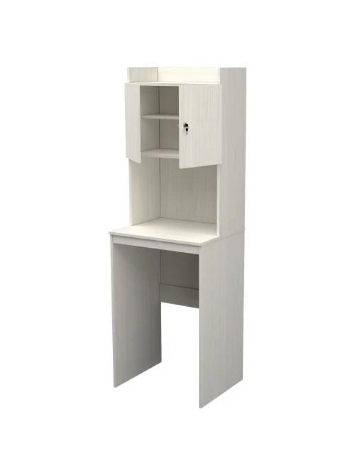 inval 72 h mini fridge and microwave storage cabinet washed oak item 5951374