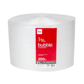 "Office Depot? Brand Small Bubble Wrap, 3/16"" Thick, Clear, 12"" x 200'"