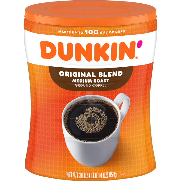 Original blend coffee brings you the same great quality you expect from Dunkin Donuts directly to your doorstep.  Original Dunkin Donuts blend offers same great quality you already enjoy  100% Arabica beans are grown in optimal climates for high-quality taste  Stay-fresh canister locks in freshness for maximum flavor again and again  Perfect for serving either hot or iced
