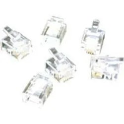 C2G RJ11 6x4 Modular Plug for Flat Stranded Cable 25pk RJ
