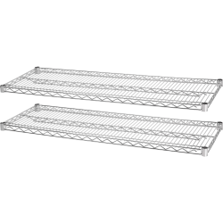Lorell Industrial Wire Shelving Extra Shelves 48 W x 24 D