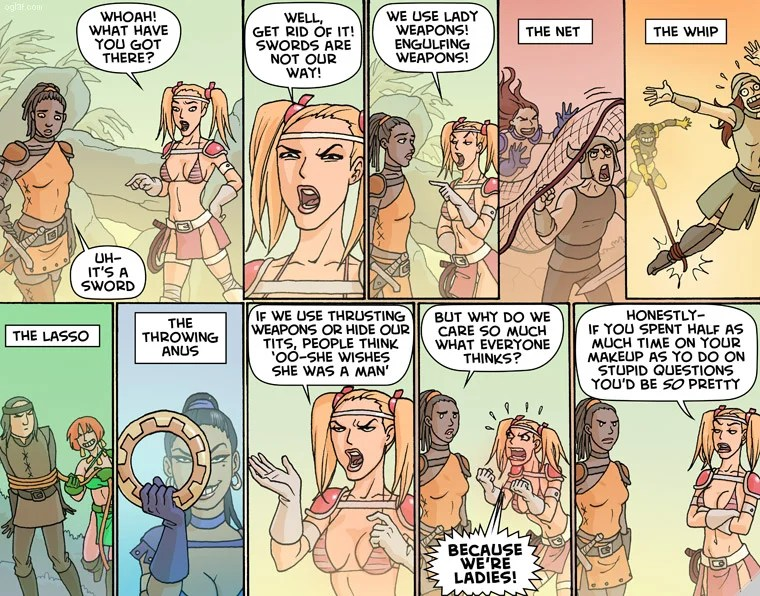 Oglaf webcomic: Glamazon Way