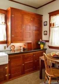 Restored Cabinets in a Renovated Craftsman Kitchen - Old ...