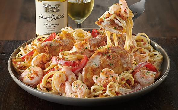 Chicken  Shrimp Carbonara  Lunch  Dinner Menu  Olive Garden Italian Restaurant
