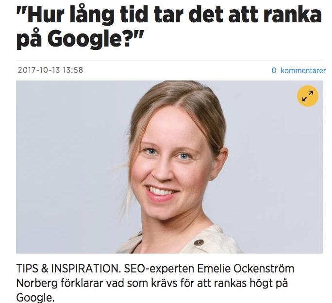 ranka på google