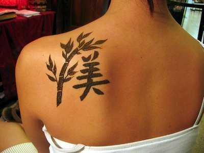 Chinese symbol tattoos are very popular today because they are very nice.