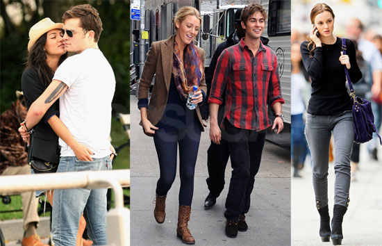as Blake Lively, Chace Crawford and Leighton Meester got decked out to