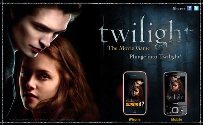 Play The Twilight Movie Game On Your Cell Phone Popsugar