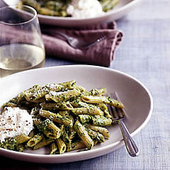 pesto on whole-wheat penne