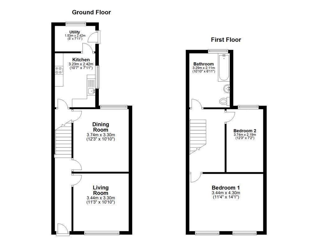 Duncan Road Gillingham Me7 2 Bed Semi Detached House To Rent