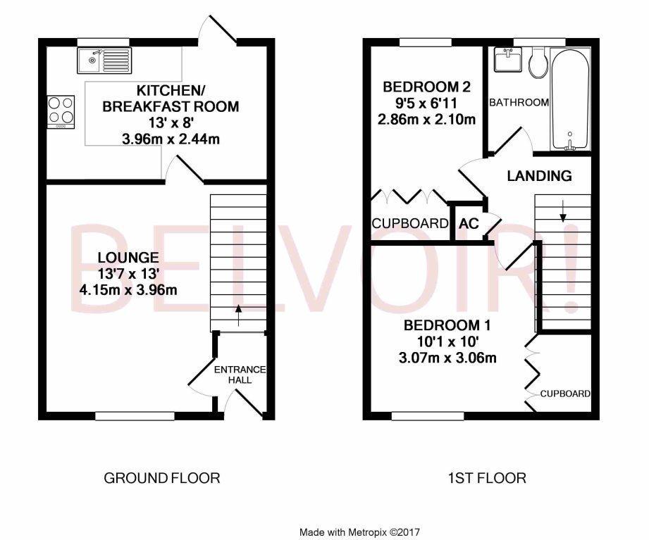 LYNDHURST DRIVE, HATCH WARREN 2 bed terraced house to rent