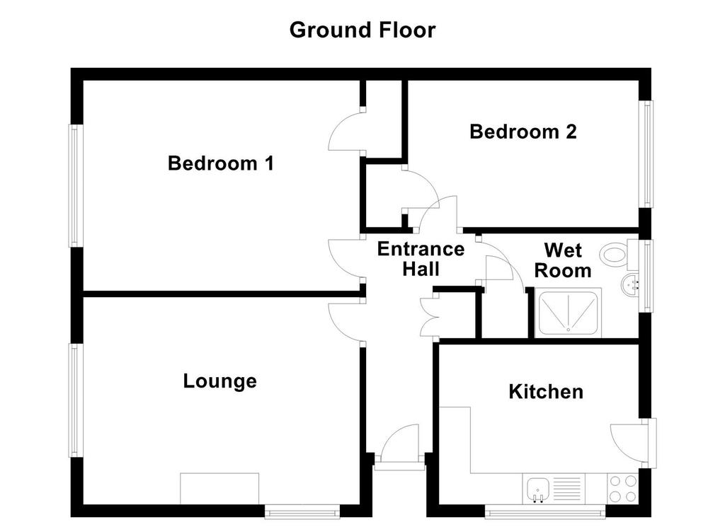 Woodside, Ashby-De-La-Zouch, LE65 2NL 2 bed semi-detached