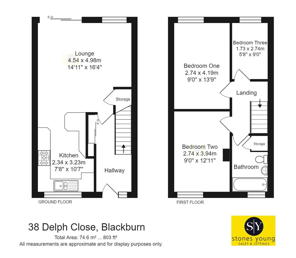 Delph Close, Blackburn, BB1 3 bed semi-detached house for