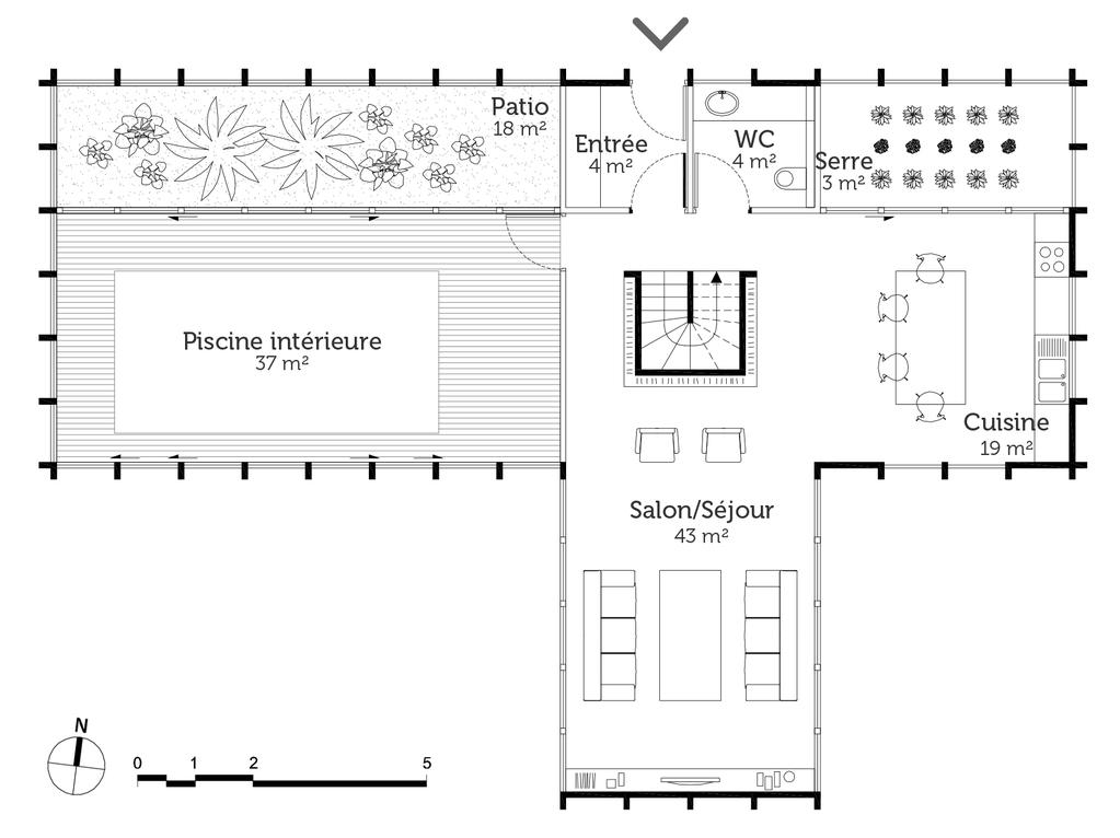 Interieur De La Maison Plan Interieur Maison 180 M2