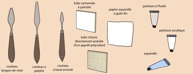 appliquer la peinture au couteau ooreka