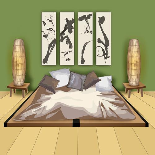 une chambre japonaise traditionnelle
