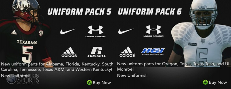 NCAA Football 14 Uniform Pack 5 And 6 Available Now 100 Each Operation Sports Forums