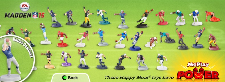Madden NFL 15 Toys Coming To McDonalds Happy Meal Soon