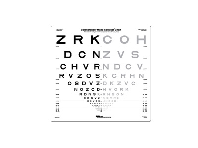 Low Contrast and Mixed Contrast Eye Charts from Precision