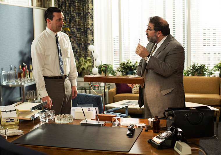 screen still from Mad Men: The Crash
