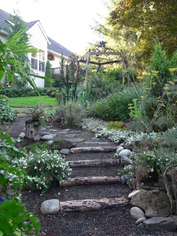 create garden steps felled