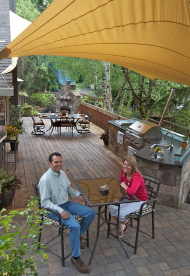 backyard kitchens kitchen bakers rack grow in popularity and sophistication oregonlive com netting2 jpg