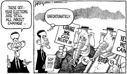 Cartoons: Republicans save money on campaign signs
