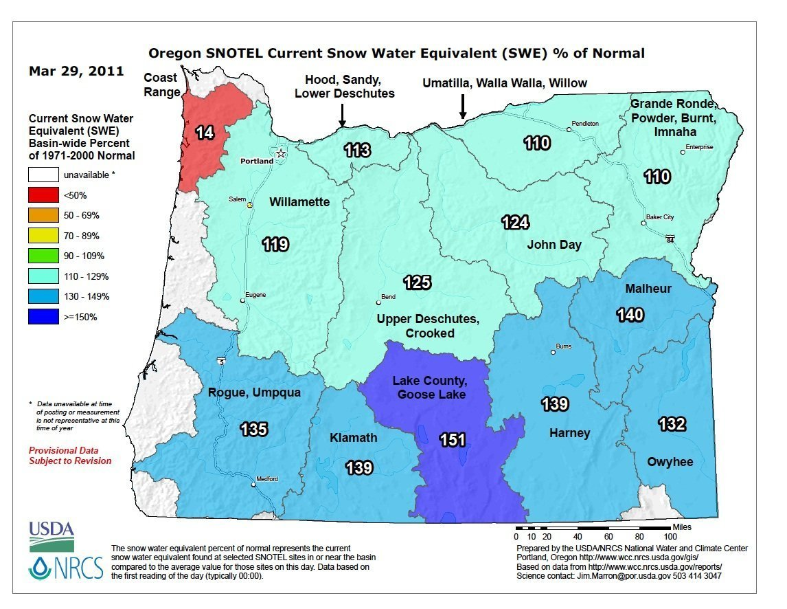 Western Snow Pack Is Well Above Normal Squaw Valley Sets New All - Us snowpack map