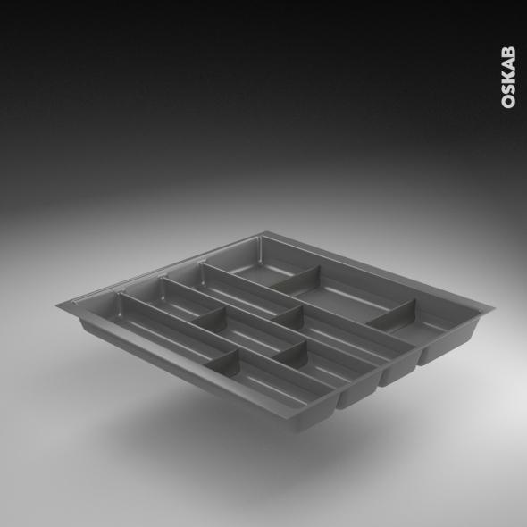 range couverts tiroir l60 cm anthracite avec separateurs modulable sokleo