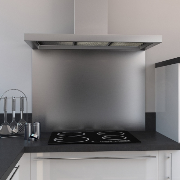 fond de hotte cuisine inox l90 x p65 x e1 1 cm planeko
