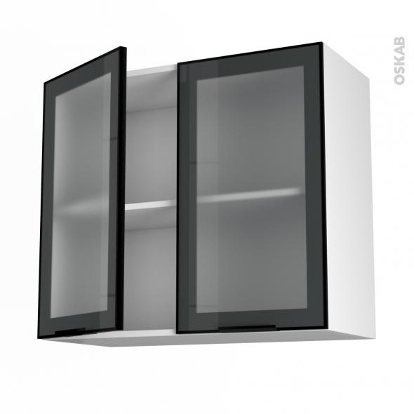 cuisine modele de cuisine cuisine vitre sokleo meuble haut ouvrant ... - Meuble Haut Cuisine Vitre