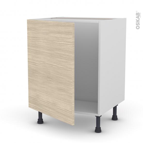 meuble de cuisine sous evier stilo noyer blanchi 1 porte l60 x h70 x p58 cm