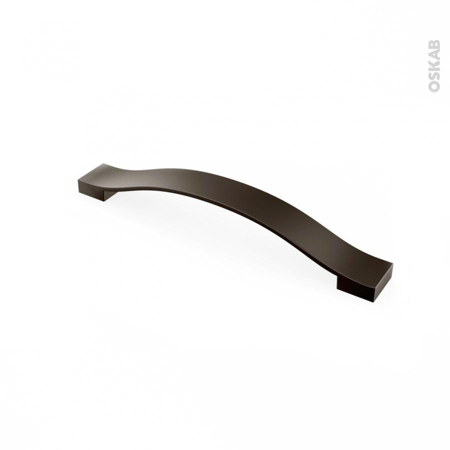 poignee de meuble de cuisine n 43 gris anthracite metal 19 3 cm entraxe 160 mm sokleo