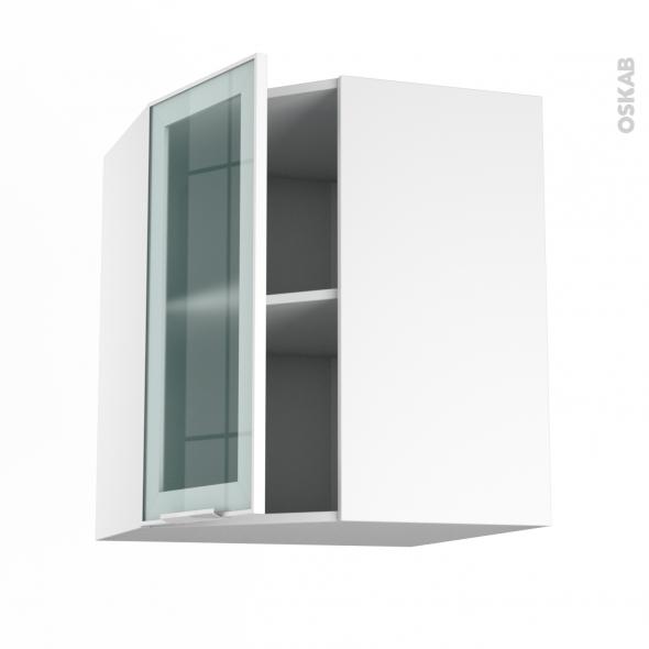 Meuble cuisine haut porte vitre caisson de cuisine haut h for Meuble haut porte pliante