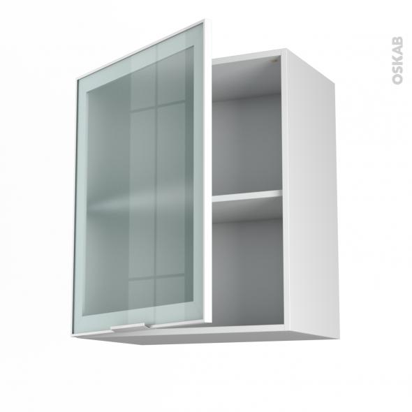 meuble de cuisine bas vitre facade alu portes l x h - boisholz - Changer Porte Meuble Cuisine